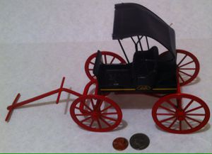 "Vintage Metal John Deer Buggy Wagon, Made in USA, Quality Shelf Display, Western Decor, Shelf Decor, 10"" x 6"", Tractor, Farming, Transportation for Sale in Lakeside, CA"
