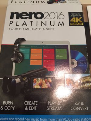 $15 FIRM FOR Nero 2016 Platinum Complete Support for 4K Ultra HD for Sale in Phoenix, AZ