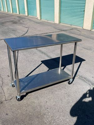 Stainless steel cart for Sale in Paradise, NV