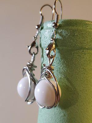 Earrings white beads for Sale in Pamplin, VA