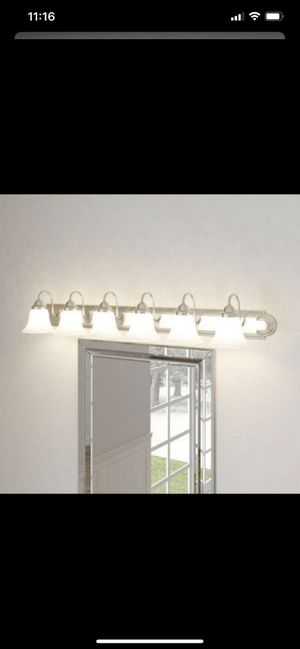6-Light Brushed Nickel Bath Light for Sale in Auburn, WA