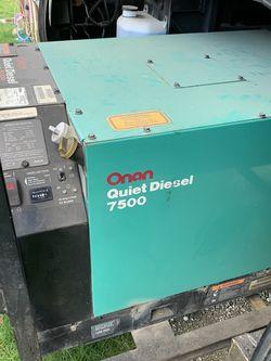 RV Parts (Motorhome Generator Onan Quiet Diesel 7500) for Sale in Auburn,  WA