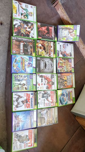 XBox 360 60GB with Kinect and bundle of games for Sale in Long Beach, CA