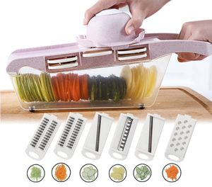 Slicer Vegetable Cutter with Stainless Steel Blade Manual Potato Peeler Carrot Cheese Grater Dicer Kitchen Tool for Sale in New York, NY
