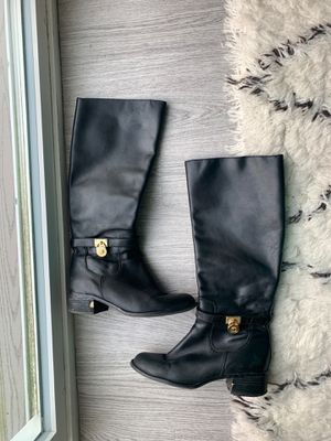 Michael Kors real leather boots black 71/2 M for Sale in Malden, MA
