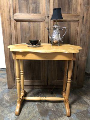 Blonde antique desk/ table w storage for Sale in Villa Rica, GA