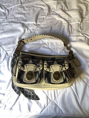 Coach Denim White Leather Shoulder Bag for Sale in Lake Havasu City, AZ