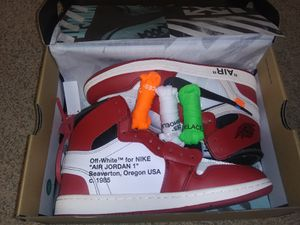 Jordan 1 Retro High Off-White Chicago - Size 9 for Sale in Philadelphia, PA