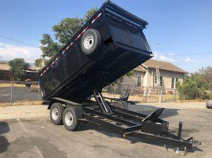 8-1/2x14x4 Heavy Duty Dump Trailer for Sale in Garden Grove, CA