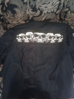 Reflective leather jacket for Sale in Buckeye Lake, OH