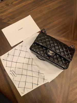 Chanel 2.55 CF Shoulder Bag satchel black Patton for Sale in El Monte, CA