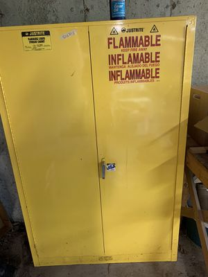 Justrite flammable liquids storage cabinet for Sale in House Springs, MO