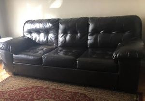 Queen size leather sofa bed for Sale in Annandale, VA