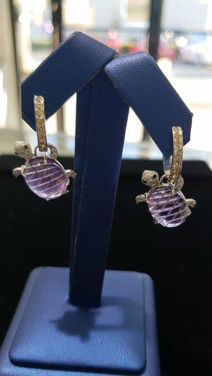 Faraone Turtle 18kt Earrings w Diamonds for Sale in Orlando, FL