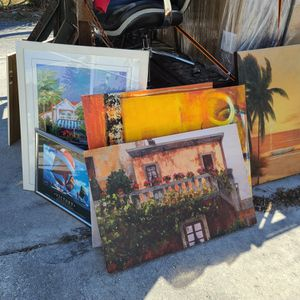 Wall Art For Sale, Canvas, Framed, See Pics for Sale in Lantana, FL