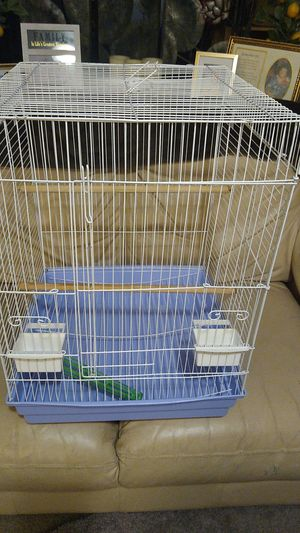 Bird cage w/2 feeders and Millet holder for Sale in Denver, CO