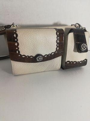 Brighton ivory and brown crossbody bag for Sale in Hemet, CA