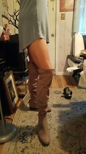 Unisa Brand new 8.5 tan beige thigh high for Sale in West Valley City, UT