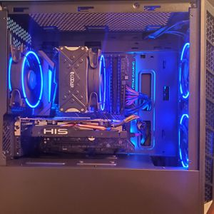 Gaming PC Intel Core i3 9100F CPU, 8GB DDR4 RAM, AMD RX 570, RGB Lighting, Desktop Computer for Sale in Charlotte, NC