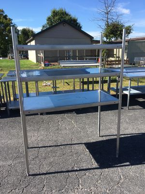 49 x 25 x 66h 3 Shelf Stainless Steel Shelving Unit for Sale in Wellsville, PA