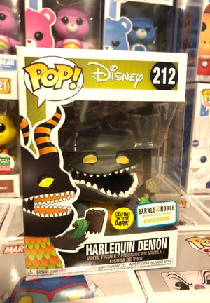 Funko pop Disney, harlequin demon #212, glows in the dark, Barnes and noble exclusive, the nightmare before Christmas, Tim Burton for Sale in Hialeah, FL