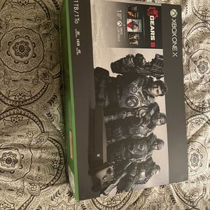 Xbox One X w/ 2 Controllers and Wireless headset (Gears Of War Series Included) for Sale in Rancho Santa Margarita, CA