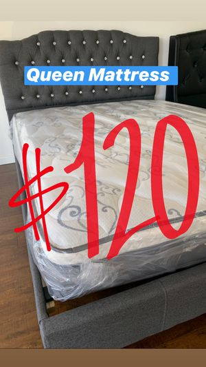 BRAND NEW PILLOW TOP MATTRESSES💯 COLCHONES NUEVOS PILLOW TOP 💯 Queen $120 ❌ $180 With Box Spring 💥💥 FULL SIZE $100 ❌ $150 With Box Spring💥 Twin $8 for Sale in Anaheim, CA