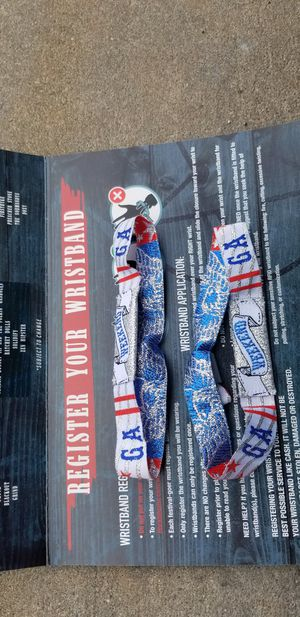 Pair of 3 day wristbands for 2019 Rocklahoma for Sale in Wichita, KS