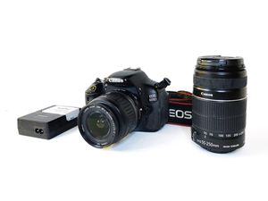 Canon 600D / Rebel T3i in excellent shape kit with EF-S 55-250mm and EF-S 18-55mm II lenses for Sale in Lake View Terrace, CA