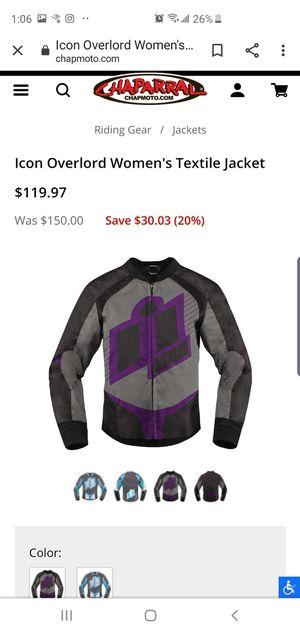 Women's Icon Motorcycle Jacket SMALL for Sale in Auburn, WA