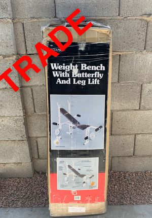 Weight bench for TRADE ONLY for Sale in Scottsdale, AZ