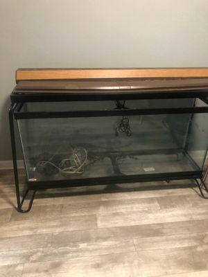55 gallon aquarium w/ metal stand for Sale in Tampa, FL