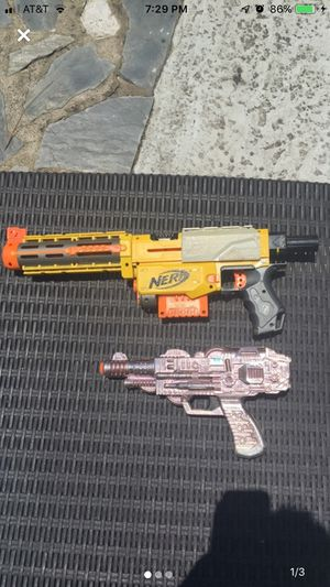 Nerf gun- Recon cs-6/ silver ray gun toy!!! for Sale in Eastman, GA
