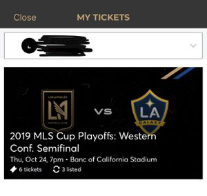 LAFC vs. Galaxy MLS Cup Playoff Tickets ( 3 Tickets) for Sale in South El Monte, CA