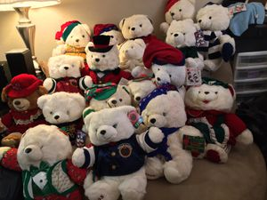 KMART Dan Dee Collectible Christmas Bears Stuffed Animals Lot for Sale in Dallas, TX