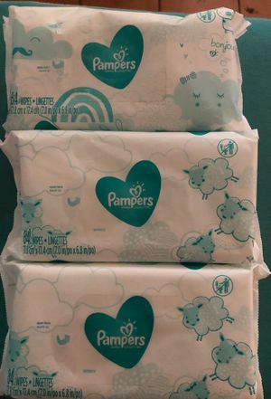 pamper sensitive wipes for Sale in Dallas, TX