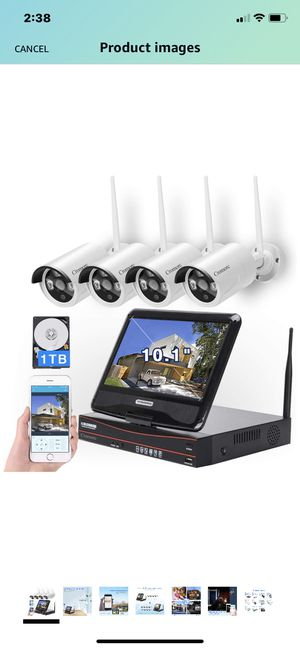 """[8CH, Expandable] All in one with 10.1"""" Monitor Wireless Security Camera System, Cromorc Home Business CCTV Surveillance 8CH 1080P NVR, 4pcs 1080P In for Sale in Santa Fe Springs, CA"""