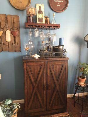 Wine bar and glass rack for Sale in Aldie, VA