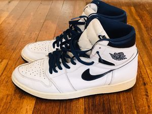 Air Jordan 1 Retro High OG White / Midnight Navy Size 12 for Sale in West Haven, CT