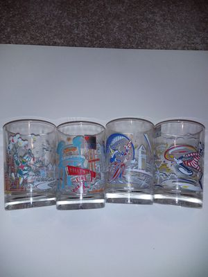 Set of 4 disney mcdonalds glasses for Sale in Wichita, KS