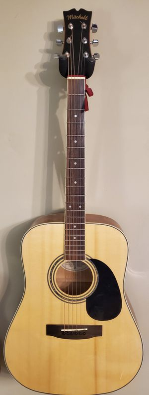 Mitchell MD-100S acoustic guitar with mother-of-pearl inlay for Sale in Chesapeake, VA