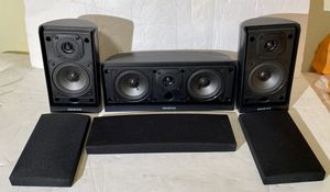 3 ONKYO SPEAKERS 2 X SKS-HT20 70W Surrounds and 1 X SKS-HT20C Central 100 W for Sale in Scottsdale, AZ