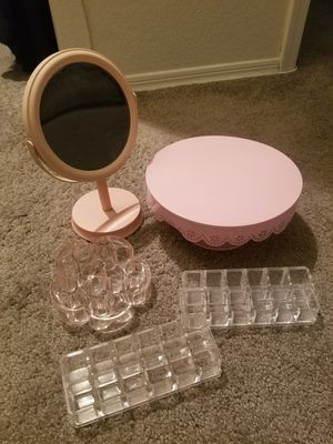 Vanity mirror and acrylic lipstick holders for Sale in Tempe, AZ