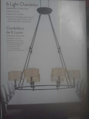 HOME DECORATORS COLLECTION 6-LIGHT CHANDELIER for Sale in Dallas, TX