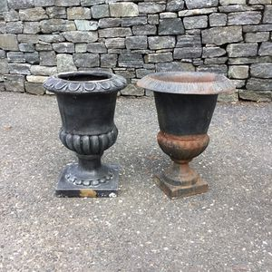 Cast iron flower Pot urn for Sale in Concord, MA