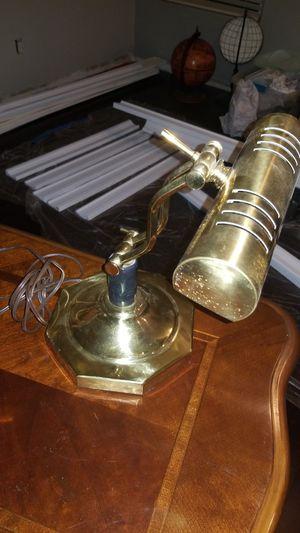 Vintage Brass Piano Banker Table Desk Lamp Adjustable VERY NICE for Sale in Las Vegas, NV