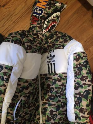 Adidas x bape jacket for Sale in Denver, CO
