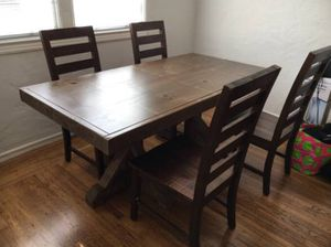 Handmade 100% Wood Dark Brown Dining Table ($400) for Sale in Oakland, CA