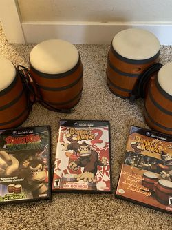 Donkey Konga 1+2, Donkey Konga Bongos, Donkey Konga Jungle Beat for Sale in Tigard,  OR