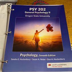 PSY 202 General Psychology II Hockenbury, Nolan, Hockenbury for Sale in Oregon City,  OR